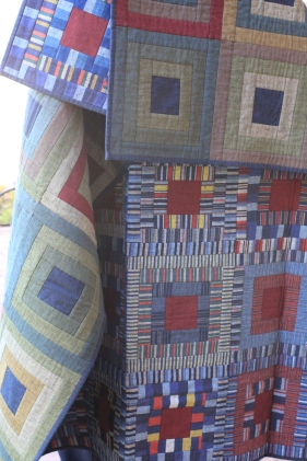 Reversible Log Cabin quilt as y