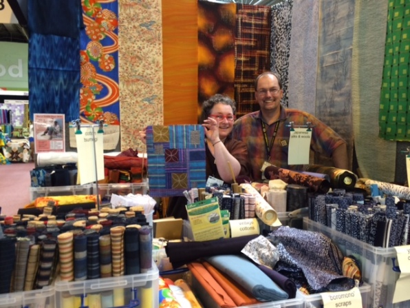 Susan Briscoe at the Festival of Quilts in Birmingham
