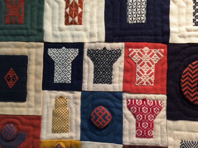 ..We loved this Kogin worked quilt