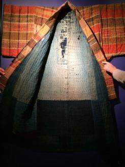 Sakiori kimono. We were allowed to touch everything!