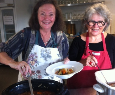 What a team! Cally and Dell produced delicious food